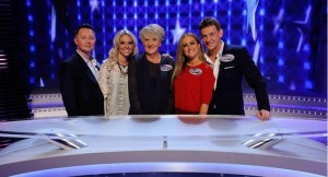 Family Fortunes - not yet screened - bro-in-law Simon, his missus Lexi, my mum Ann, Amelia and me