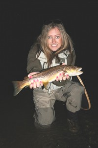 Mrs Wright's enormous wild brown trout, Wales